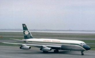 CATHAY PACIFIC CONVAIR 880 VR-HFS POSTCARD